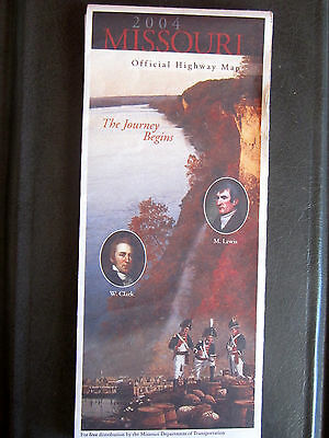 Missouri Official Highway Map 2004 The Journey Begins Lewis & Clark