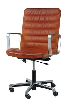 20Th Century Scandinivian Modern Leather And Chrome Office Chair By Joc