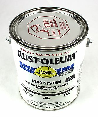 Rust-O-Leum Water Based Epoxy Primer Red 1 Gal 5300 System USA 5369405 OF