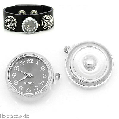 "LOVE Watch Face Snap Click Buttons Snap Silver 25mmx21mm(1""x7/8"") 5x"