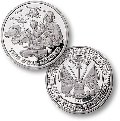 Military Series Army 1 oz .999 Silver Proof Round USA Made American Bullion Coin