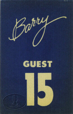 BARRY MANILOW 1980 Backstage Pass Guest Blue