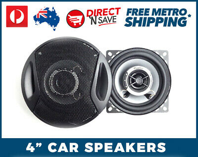 "4"" 2-way Car Speaker 120Watts Max 1"" Midrange High Powered Schneider CS-432"
