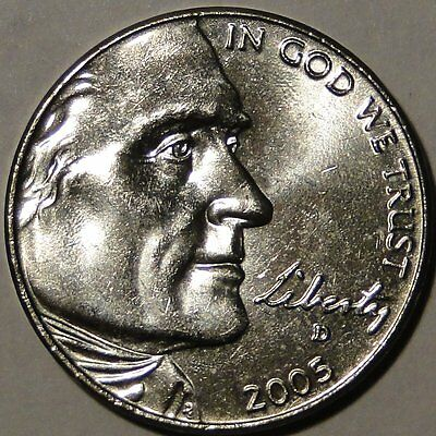 BU United States 2005 D Commemorate Jefferson nickel Westward Journey 5c coin