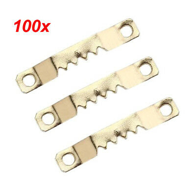 new 100PCS Saw Tooth Hangers Oil Painting Picture Frame Hooks Hanging 41 x 7mm