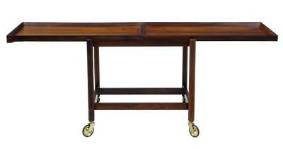 Danish Rosewood Serving Table Trolley By Poul Hundevad