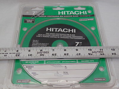"Hitachi 7"" Continuous Diamond Blade 5/8 Arbor Tile Stone Masonry wet Free Ship!!"