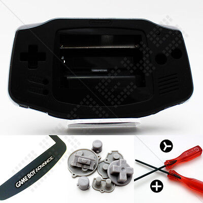 New BLACK Nintendo Game Boy Advance GBA Casing (Case/Shell/Housing) & Tools