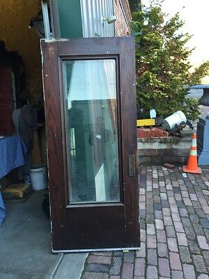 Ar 11 Antique Full View  Park Avenue Beveled Glass Ok Entrance Door 34 Inch