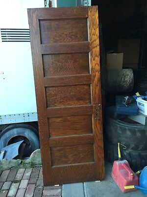A R 17 Five Panel Antique Oak Passage Door 30 Inch X80
