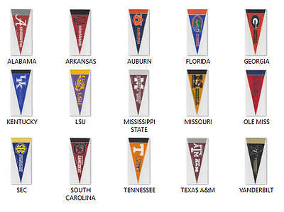 2 New Ncaa Sec Mini Team Wool Felt Pennants Officially Licensed You Pick Team