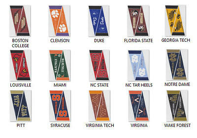 2 New Ncaa Acc Mini Wool Felt Pennants Officially Licensed You Pick Team
