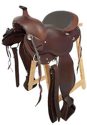 Treeless Western Saddle Arizona, Brown, Full Quarter, New, Oiled Leather