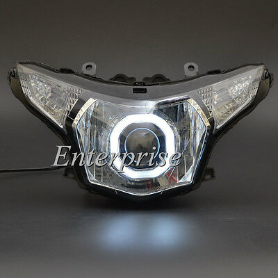 Projector HID Headlight White Angel Eye For Honda CBR250R 250R 2011-2013 2012