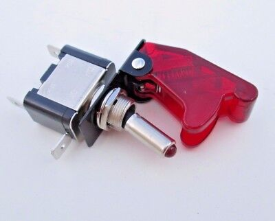 Performance Ignition Switch Toggle with Cover Constant 20 Amps 12-Volts Red