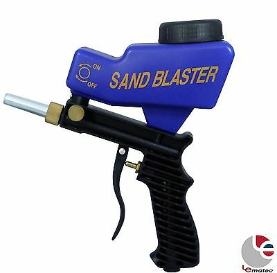LEMATEC AS118 Gravity Feed Air Sandblasting Gun remove spot rust with free tip