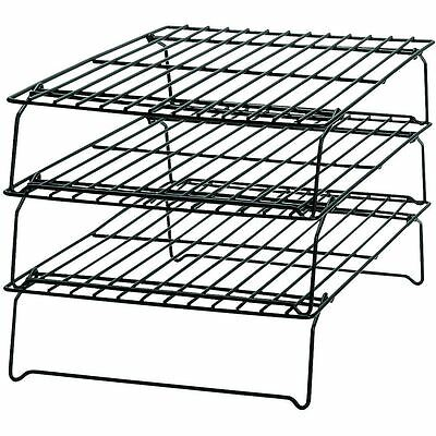 Wilton Cooling Rack 3 Tiers Grid Non Stick For Cakes Sweets Bakeware Stackable