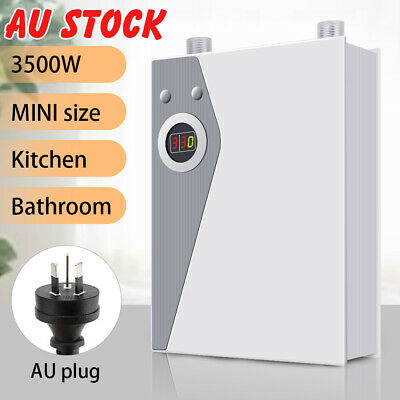 Instant Electric Water Heater Bathroom KitchenUnder Sink Faucet Hot Water System