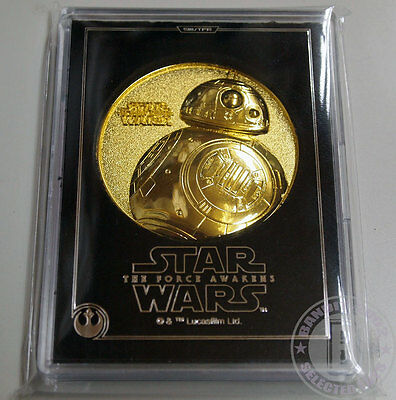 STAR WARS Force awakens Medal JAPAN Movie theater Exclusive Dec 2015 BB-8 Droid