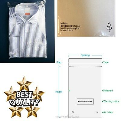 T-Shirt Garment Bags Clothing Cover Clear Polythene Polypropylene Textile Bag