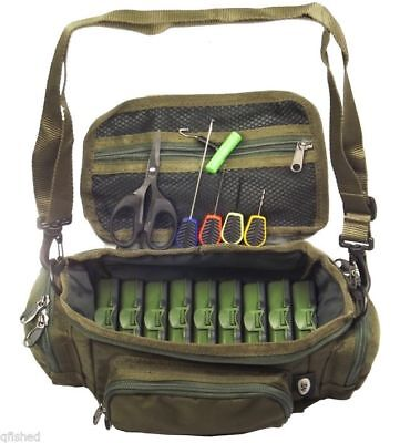 Mini Fishing Bag Carryall Baiting Needles Scissors 9 Tackle Boxes Carp Set