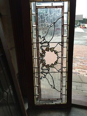 Antique Transom Glass Window Babbles Jewels Stainglass