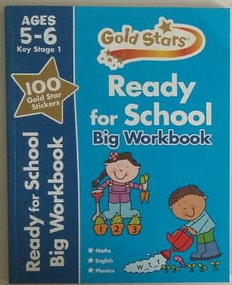 Ready for School Big Workbook + Handwriting practice Ages 5-6
