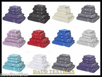 Luxury 6Pcs Towel Bale Set 100% Coton Best 2 Face,2 Hand,1 Bath Towel & 1 Sheet