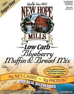 New Hope Mills Sugar Free Muffin and Bread Mix Blueberry 227 g, Low Carb, Monk