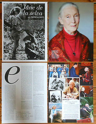 JANE GOODALL 5 page 2014 article photos magazine chimpanzees anthropologist