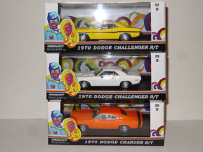 Greenlight 1970 Dodge Challenger R/t & Charger R/t 1.43 L.e.diecast Models New