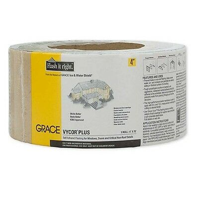 "Grace Vycor Plus Self-Adhered Flashing Tape - 4"" x 75'"