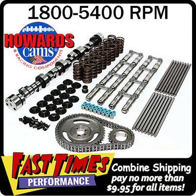 """HOWARD'S BBC Chevy Retro-Fit Hyd Roller 278/284 567""""/578"""" 110° Cam Camshaft Kit"""
