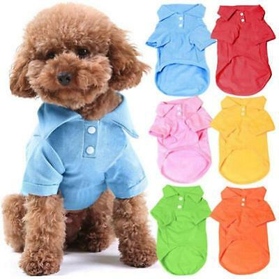 Cute Pet Puppy Polo Shirt Small Dog Cat Pet Clothes Costume Apparel T-Shirt GG