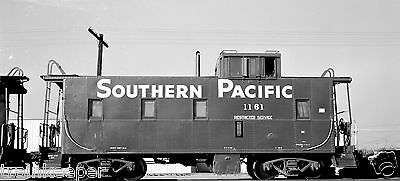 Southern Pacific (SP) Caboose #1161 Black & White Print