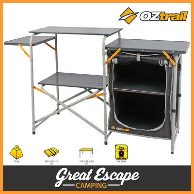 OZtrail Camp Kitchen SINGLE PANTRY Table