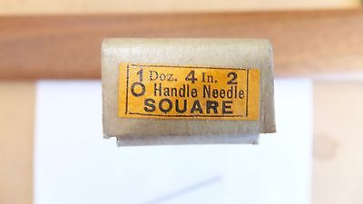 NOS Nicholson file round handle needle square 4 inch 2 cut