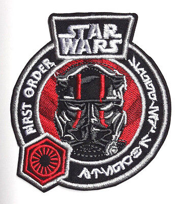 """Star Wars First Order TIE Fighter Pilot Logo 3.5"""" Patch-FREE S&H (SWPA-FA-04)"""