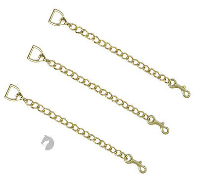 """New Zilco Lead Chain BRASS plated 75cm 30"""" Horse dog cow nose chin chain"""