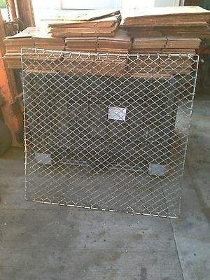 "VINTAGE INDUSTRIAL IRON WINDOW GRATES / GUARDS 46.5"" H x 47.5 "" ."