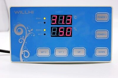110V Digital Temperature And Humidity Controller Incubator Thermostat W/ sensor