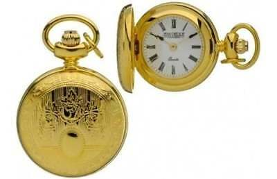 Jean Pierre Of Switzerland Ladies Gold Plated Full Hunter Necklace Watch L603P