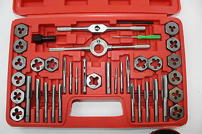 Neilsen 40 Piece Metric Tap and Hex Die Set in Case Steel Thread Tool M3 to M12