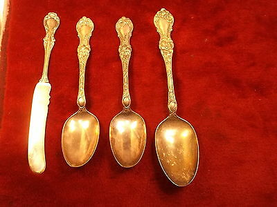 "Lot Of Old Vtg Antique Silverplated Larger Flatware, All ""wallace 1835"" Pattern"
