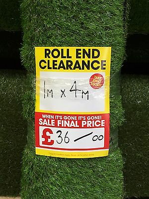 Artificial Grass Fake Small Patio Garden Lawn Play Area 1m x 4m 20mm Pile