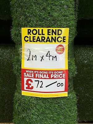 Artificial Grass Fake Small Patio Garden Lawn Play Area 2m x 4m 20mm Pile