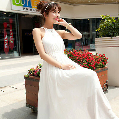 Lace Long Chiffon Bridesmaid Evening Formal Party Ball Cocktail Dress Gown Prom