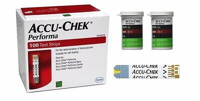100 Accu-Chek Performa test strip for performa Nano,Combo,Connect,Expert acuchek