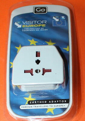Go Travel European Visitor Adaptor (Worldwide Visitors To Europe) - Brand New