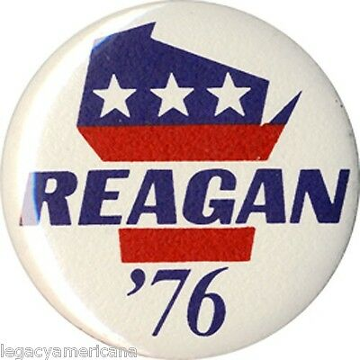 1976 Ronald Reagan Wisconsin Primary Campaign Button (4705)